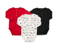 Carters BABY BODYSUIT, BABY BOYS 3 PAC MULTI NEWBORN,  AED 49
