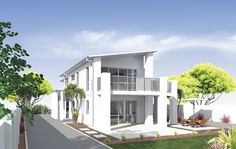 Punctuated by a large, welcoming foyer that sets the mood for the rest of the home, the Platinum Homes Petronas is a masterpiece of good living. Foyer, House Plans, Floor Plans, Flooring, How To Plan, Mansions, Undercover, House Styles, Outdoor Decor