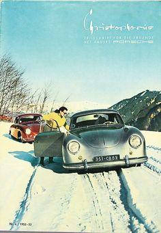 Porsches in the snow