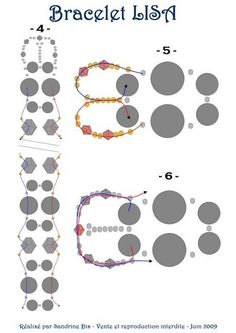 Free pattern for bracelet Lisa by Sandrine Bis| Beads Magic. Page 3 of 4
