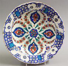 Turkish Iznik Polychrome Plate