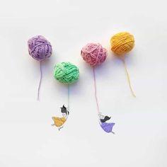 Spanish illustrator and designer Jesus Ortiz. Jesus Ortiz is a very creative illustrator. Jesus Ortiz often draws minimalist artifacts. Knitting Blogs, Hand Knitting, Minimalist Photos, How To Make Skirt, Everyday Objects, Stop Motion, Winter Time, Creative Photography, Creative Art