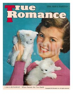 True Romance vintage magazine poster, available on artdotcom in giclée print, the standard for museums and galleries around the world.
