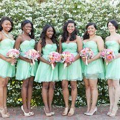 Mint bridesmaid dresses♥