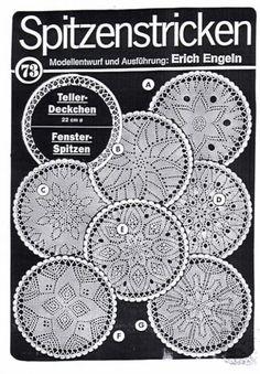 Engeln Spitzenstricken Nr. 73  German website to order erich engeln lace knitting patterns.
