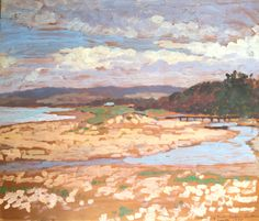 Inlet, Victorian Coast 1929  1929  30 cm x 35 cm  Oil on board  Provenance: Sendon Galleries c1929  Painted En Plein Air, March 1929.  Signed lower left, inscribed lower right.  Original frame.  Robert Campbell | Day Fine Art  $2400