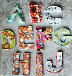 jenniferjohner:  Make A Magnetic Fabric Scrap Alphabet Flickr Find | Apartment Therapy Ohdeedoh
