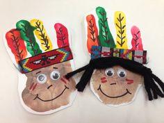 Our little tribe! Preschool Thanksgiving Handprint Craft @Juli Leonard Leonard Leifheit @Tina Doshi Doshi Musgrove