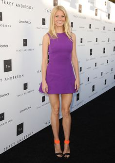 Gwyneth Paltrow paired her Victoria Beckham dress with fierce Michael Kors shoes.