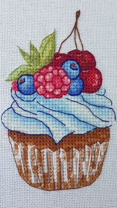Вкусные схемы для вышивки крестом от Александры | VK Cupcake Cross Stitch, Cross Stitch Stocking, Cross Stitch Love, Ribbon Embroidery, Cross Stitch Embroidery, Embroidery Patterns, Cross Stitch Patterns, Stitch Witchery, Palestinian Embroidery