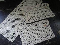 Meu Querido Crochê: jogo de cozinha em crochê floral