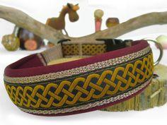 """Halsband mit Neopren """"Keltika gold"""" - Halsband, Geschirr, Leine selbst gestalten - peppetto.de"""