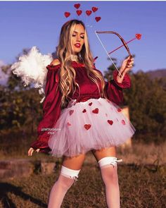 Do you want to fall in love? Halloween Costumes For Bffs, Halloween Costume Contest, Cute Costumes, Halloween Kostüm, Girl Costumes, Costumes For Women, Costume Ideas, Angel Costumes, Mermaid Costumes