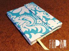 'Turquesa' MiniBook Cierre con Imán .  Tamaño A6: 15x11 / 65 hojas lisas. Modelo Exclusivo Filipina.