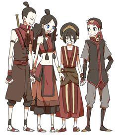 Sokka, Katara, Toph and Aang Avatar Aang, Avatar Airbender, Team Avatar, Zuko, Haikyuu, Character Art, Character Design, The Last Avatar, Avatar Series