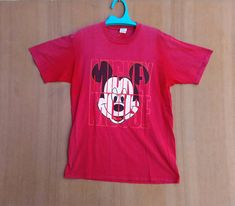 Vintage 90s Disney Mickey Mouse Spell Out T Shirt Large Made In USA by ArenaVintage