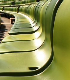 These are the seats they should have put in Mosaic Stadium - imagine a green mosaic of seats in the home of Rider Pride!