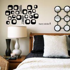 wallsticker square pattern Wallpaper interior Design