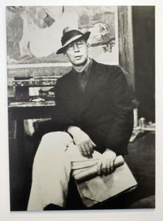 A photo of Henry Miller taken in Abraham Rattner's New York studio…
