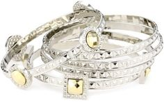 Laundry By Shelli Segal Laundry Silver Stackable Bangle Bracelet laundry by SHELLI SEGAL, http://www.amazon.com/dp/B00829PC68/ref=cm_sw_r_pi_dp_64cdqb1AFX1Q9