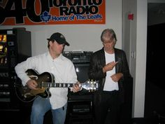 Jim McCarty (Yard Birds Founding Drummer), Terry Moshenberg (Founder, League Of Rock), prep for a spot on Q107, Toronto's Best Rock.