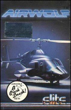 Airwolf Computer Game Cassette inlay front - Elite