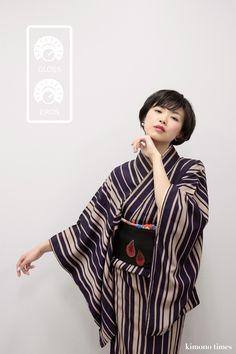 Very ununsual... The sleeve shape is more like a man's kimono. The result looks nice, though.