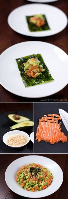 Salmon Avocado and Natto Seaweed Wrap recipe. Ready in 10 minutes, this is a super healthy, light and delicious meal. www.Frances.Menu