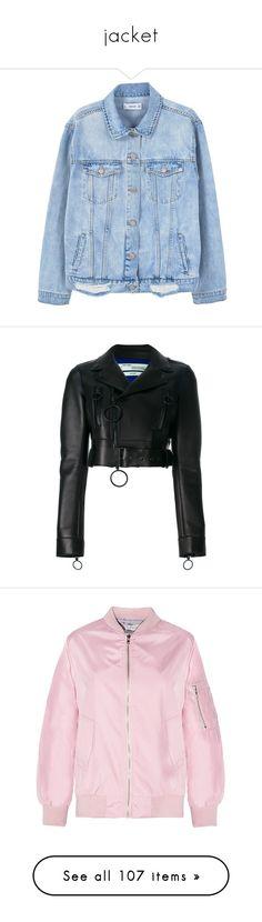"""jacket"" by xoxobs19 ❤ liked on Polyvore featuring outerwear, jackets, tops, coats & jackets, collar jacket, denim jacket, oversized denim jackets, distressed denim jacket, distressed jacket and black"