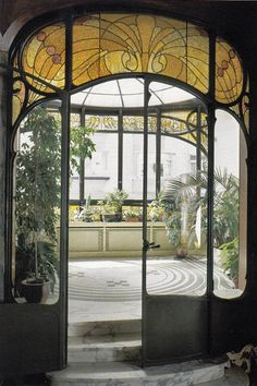 The amazing art nouveau interior of Hannon House, designed by architect Jules Brunfaut in 1903, Brussels, Belgium                                                                                                                                                                                 More
