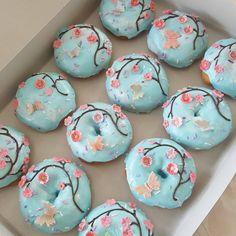 "The Original Spudnuts Donuts (@spudnutsdonuts) on Instagram: ""Sorry, they smell like donuts, not cherry blossoms. 😅 #edibleart #sukuradonuts"""
