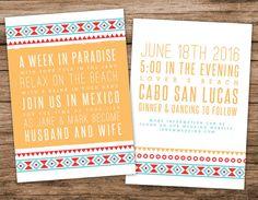 Desert Wedding Invitation, Mexican Tile lnvitation by AlexaNelsonPrints on Etsy