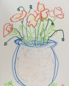 Des coquelicots #coquelicot #flower #flowerdrawing #oilpastel #drawing