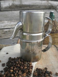 1960's genuine italian 'Neapolitan' coffee maker espresso, stove top espresso pot, coffee pot,