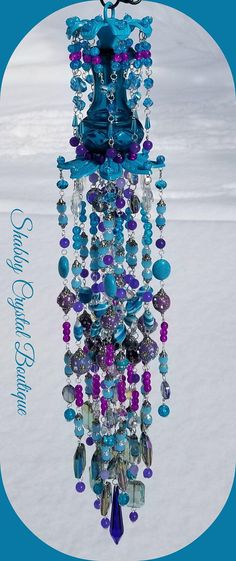 Pretty Peacock Crystal Wind Chime Winter special