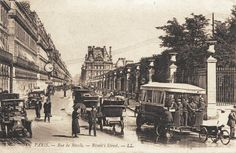 rue de Rivoli - Paris 1e/4e La rue de Rivoli vers 1900 (ancienne carte postale)