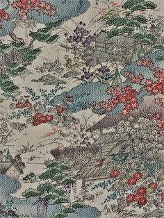 "6627: 1980's Japanese Silk 65""Piece,Ladies Chirimen Silk Kimono Fabric #instasew #instaquilt #japanesefabric #bulkkimono"