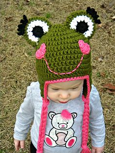 Ravelry: Valentine Frog Earflap Hat pattern by Kandace Green