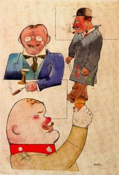 George Grosz - German wine and German song - The ~ Artworks of George Grosz and containing the word george grosz, dadaism, new york - Character Design Girl, Character Design Animation, Character Design Inspiration, George Grosz, Degenerate Art, Creative Art, My Drawings, Comic Art, Illustration
