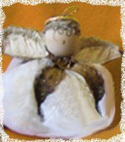 cotton boll angel tutorial; I have had one of these cotton boll angel Christmas ornaments for about 20 yrs. and still use it on our Christmas tree