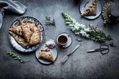 lavender blueberry & ricotta turnovers