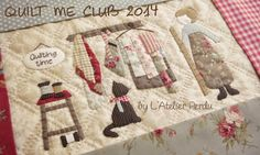 Quilt Me Club 2014 by L'Atelier Perdu - Mystery BOM Part 1 - Sign up while it is still available ! www.atelierperdu.fr