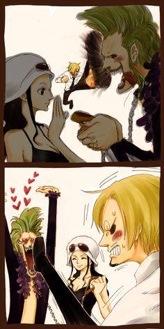 Bartolomeo, Sanji, Robin | One Piece Bartolomeo loves everyone in the strawhat crew~ He should join, damnit