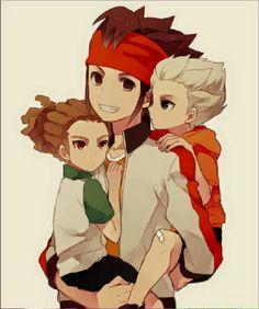 Endou, Kido & Goenji Inazuma Eleven Go, Anime, Cartoon, Manga, Fictional Characters, Squad, Fandoms, Seasons, Gallery
