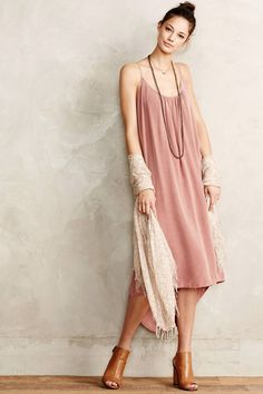 Chambray Midi Dress by Anthropologie