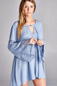 Romantic Lace Tunic Top