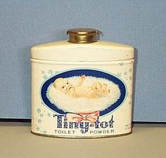 Vintage Tiny-Tot Baby Toilet Powder
