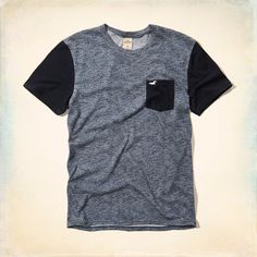 Endless Festival Pocket Tee, color blocked with crew neckline and textural body.