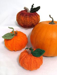 Knitting - Holiday & Seasonal Patterns - Autumn Patterns - Perfect Little Pumpkins