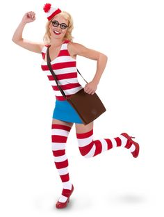 Waldo Sexy Dress Adult Costume from Buycostumes.com